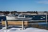 Fish Hawk [Explore Jan 8, 2018] (Bud in Wells, Maine) Tags: maine webhannetriver wells wellsharbor bench boats snow winter wickedtuna tunafishing fishhawk nationalgeographic saariysqualitypictures