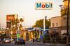 Mobil (Thomas Hawk) Tags: america california coronaextra hollywood losangeles mobil usa unitedstates unitedstatesofamerica billboard gasstation fav10 fav25