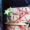 Kimono and obi with accessories (Silent Night- Day 1) (mayakonakamura) Tags: mayako nakamura mayakonakamura tokyo sakamotogofukuten hachioji silentnight christmas plywood groupshow kimono cupandsaucer hand painted overglazed chrsistmastree acrylic semiabstract painting