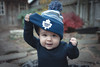 Will - 10.5 months old (Katherine Ridgley) Tags: toronto torontobaby baby babyboy babyfashion cutebaby hat toque mapleleafs torontomapleleafs hockey hockeyfan outside outdoors