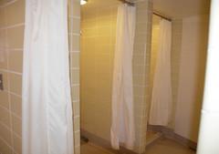 Benson Hall - Pre Renovation (UWW University Housing) Tags: uww uwwhitewater bensonhall benson shower toilets curtains beforeshot bathroom winter 2017 residenthalls