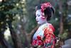 The Geisha (fredMin) Tags: lady cute japan girl travel people portrait asia kimono geisha kyoto fujifilm xt1