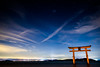 happy new year! (Shirahige shrine, Shiga) (Marser) Tags: xt10 fuji raw lightroom japan shiga biwako biwalake shrine torii star longexposure nightview cloud 滋賀 白髭神社 琵琶湖 鳥居 星