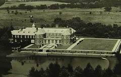 Allereton House & Grounds (Aerial), Monticello, IL c1910 (RLWisegarver) Tags: piatt county history monticello illinois usa il