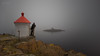 Where does it end (Normann Photography) Tags: fog havneberget havnerøypynten leefilters munken nevlunghavn people beacon emotions fyrlykt haze human longexposure man mist person pondering projeksjonfarge selfie superstopper weater vestfold norway no