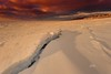 Frozen Cape Cod Bay (Dapixara) Tags: weather nature water scenery scenic beach frozen ice sunset winter eastham firstencounterbeach photography capecod massachusetts usa