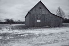 Bleakness    #7DWF-Monochrome (Paul McCarthy99) Tags: 7dwf ice river columbus scioto