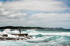 Fishing On Ponta do Ouro Beach (Neal_T) Tags: africa fuji fujifilm mozambique pontadoouro waves xt2 fishing rockpools sea