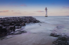 Perch Rock Lighthouse: New Brighton (northcountrygirl) Tags: lighthouse sunset perchrock newbrighton wallasey wirral seaside long exposure sea haida6stop neutral de 6stopnd