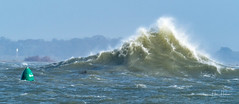 Bouys and waves (Peter H 01) Tags: waves surf harbour haylilng chichester sea storms stormy bouy buoyant