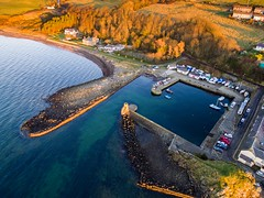 Dunure Harbour (GWMcLaughlin) Tags: harbour sunset phantom3standard p3s phantom dji dunure scotland uav drone sea boats water ayrshire multirotor trees beach aerial firthofclyde djiphantom standard boat 2017