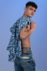 Mushraf (PhotoMechanic.uk) Tags: male man guy dude youth model pose photoshoot teen boy studio blue jeans shirt fashion trendy casual stand standing