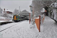 London Midland departed (geoff7918) Tags: yardleywood snow 172341 1329 stratford worcester londonmidland westmidlandsrailways