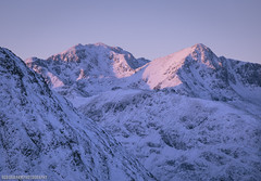 Bidean Alpen Glow (RobGrahamPhotography) Tags: bideannambian stobcoirenanlochan munro mountain mountains snow winter alpenglow sunrise outdoor nature landscape landscapes peaks canon canon6d sky scotland highlands glencoe