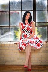 rose dress 8 (Hannah McKnight) Tags: tgirl transgender transgirl model crossdress crossdresser stilettos petticoat