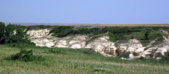 Chalk badlands (Niobrara Formation, Upper Cretaceous; outcrop along Gove County Road K, Gove County, Kansas, USA) 3 (James St. John) Tags: smoky hills chalk member niobrara formation cretaceous gove county kansas castle rock road chalks