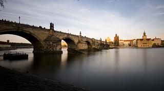 long exposure Charles Bridge, Prague