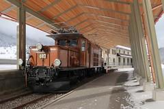 Bergün - RhB 407 Krokodil (Kecko) Tags: 2017 kecko swiss switzerland schweiz suisse svizzera graubünden graubuenden gr bergün bravuogn albula europe pass museum bahnmuseum eisenbahn bahn rhätischebahn rhaetian railway railroad viafierretica rhb lokomotive locomotive krokodil swissphoto geotagged geo:lat=46630570 geo:lon=9747260