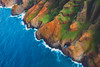 Red Green and Blue (hermez) Tags: kauai hawaii stunning napalicoast united states nature colorful island ocean pacificocean hole helicopter