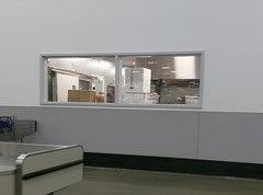 What lurks behind the new café food prep area window!?? (l_dawg2000) Tags: 2017remodel apparel café desotocounty electronics food gasstation meats mississippi ms pharmacy photocenter remodel samsclub southaven tires walmart wholesaleclub unitedstates usa