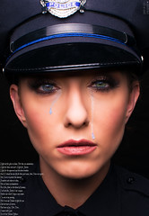 Dedication to all of our Fallen Officers (danniellecousin) Tags: officer police black blue blackandblue backtheblue tears fallen dedication honor cop thinblueline freedom justice emotional meaning standup love courage fighter remember listen look do national movement portrait people mua heart sad missed loved honored dedicated studio studiophotography hat badge eyes photoshop crying outrage war new year newyear holidays