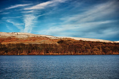 Winter Sunshine In The Valley (Missy Jussy) Tags: winter sunshine valley piethornevalley piethorne reservoir water cold snow trees hills hillside fields horizon sky clouds outdoor outside rochdale landscape lancashire land northwest saddleworth views christmas 2017 canon canon5dmarkll 50mm ef50mmf18ll canon50mm fantastic50mm primelens fixedfocallength dogwalk
