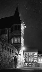Old Büdingen (Parchman Kid (Jerry)) Tags: büdingen altstadt night old castle schloss parchmankid sony a6000 nacht stars monochrome bw black white christmas killer boar wildschwein