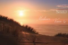 A toutes et à tous. (Gycessé) Tags: dune pilat pyla latestedebuch bassindarcachon bancdarguin gironde nouvelleaquitaine océan atlantique oyat coucherdesoleil sunset reflet réflexion ciel vœux 2018 nouvelleannée