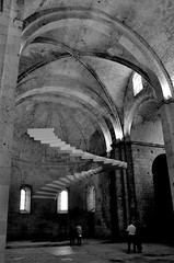 Floating staircase (dmnq_fenot) Tags: camarguearles cof007pst cof007step cof007ally 7dwf blackwhite cof007pasc object bw