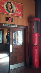 Vestibule Door and Gas Pump (Retail Retell) Tags: spaghetti warehouse closure closing italian grill restaurant huling avenue downtown memphis tn shelby county retail trolley interior decor 30 years opened 1987 closed november 19 2017