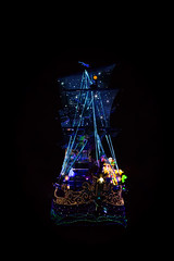 Ship of Dreams (jasohill) Tags: castle blur hole winter people disneyland lights hook wise pan motiom life creepy pete chiba dream shippeter city pirate evening wonderland captain tokyo cinderella night dark rabbit colors park photography man japan 2017amusment colorful disney