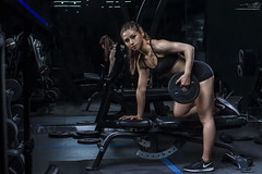 【Bodybuilding Shooting - NO MATTER WHAT】 (Huỳnh MiNH Trí) Tags: shooting modeling portrait styling lighting beauty professional gorillazs photographer fitness women dream bodybuilding gym strong design color feeling makeup never give up