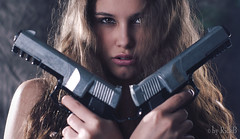 Paula Croft (RickB500) Tags: portrait girl rickb rickb500 guenuche guenuchebook pavlina paula tombrider laracroft movie pistols hair eyes