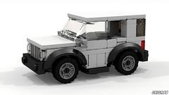 Jeep Renegade (LDD Building Instructions) by  Criga88 (Repubrick.com) Tags: repubrickcom buildinginstructions lego ldd lddfile jeep renegade city car 4wd