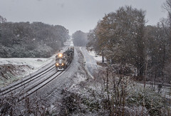Winter Wonder Liberty (WillJordanPhoto) Tags: trains snow logistics transportation liberty southcarolina greenville district winter december norfolk southern