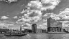 Hamburg Elphi (Melanie Tomischat) Tags: stadt skyline city clouds cloud hafen harbour boot elphi schwarzweis black white bw sw
