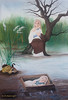 oil painting (m.hoseinjo) Tags: oil prophet moses colored beautiful baby child painter face eyes painting mother fish water duck