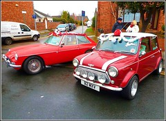 Two Decorated Cars .. (** Janets Photos **) Tags: uk hull villages christmas shows events festive classiccars