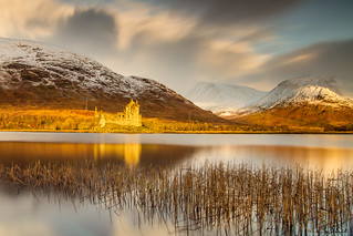 Kilchurn Castle in Golden Morning Light
