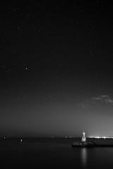 Star Gate (stephen cosh) Tags: 21mmzeissbiogon leicammonochrom ayr blackandwhite landscape longexposure milkyway mono scotland seascape starlight stephencosh unitedkingdom gb