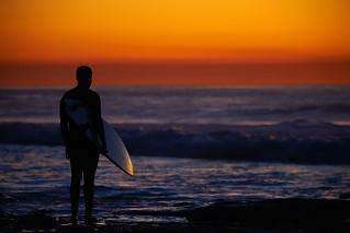 Surfer at La Jolla: 12/12/17