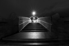 ... it can be lonely this time of year ... (Jane Friel) Tags: dublin dublincity city cityscape citylights christmas christmastime janefriel janefriel2017 hapennybridge bridge light lightanddark person oneperson one lonely itcanbelonelythistimeoftheyear steps