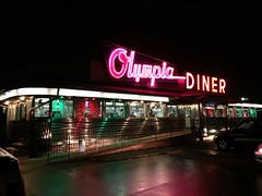Olympia Diner, Newington, CT. (63vwdriver) Tags: olympia diner omahony newington ct connecticut vintage stainless steel neon