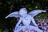 On Earth and in My Garden (mslabrat13) Tags: angels smileonsaturday angelsonearth garden birdbath