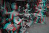 Kalighat, quartier des fabricants d'idôles, Calcutta,  Bengale occidental, Inde (Pascale Jaquet & Olivier Noaillon) Tags: anaglyphe artisanat ambiance idoles scènederue durga religionhindouisme anaglyph sculptures calcutta bengaleoccidental inde ind
