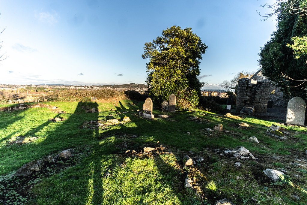 ANCIENT CHURCH AND GRAVEYARD AT TULLY [LAUGHANSTOWN LANE NEAR THE LUAS TRAM STOP]-134592