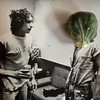 With Budweiser in Hand Bob Confronts Brussels Sprout Man (ricko) Tags: bobdylan brusselssprout budweiser can