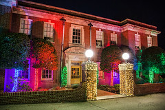 Nela Park Holiday Lighting 2017 (pyathia) Tags: nela park east cleveland christmas light lights display seasons greetings historic ohio location campus century 100 years old holiday lighting ceremony ge current powered by general electric interior drive through thru inside