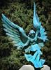 Angel Decending (arbyreed) Tags: arbyreed smileonsaturday angelsonearth bronze sculpture angelsculpture patina blue bluegreenpatina