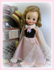 Happy New Year! (Foxy Belle) Tags: betsy mccall doll gown juke box vintage tiny 8 new year pink black